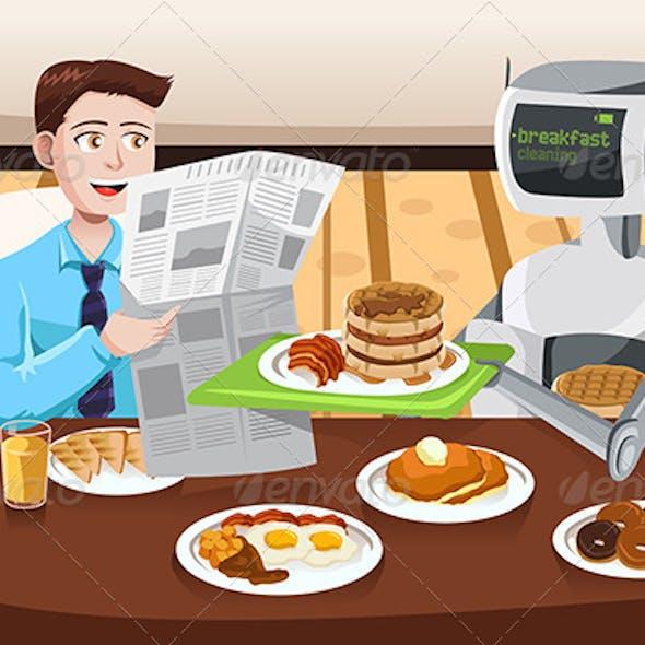 Robot Serving Breakfast