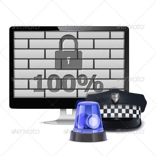 Vector Computer Security Concept