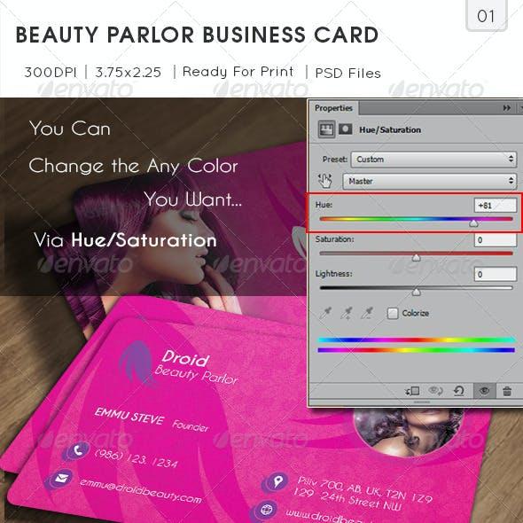 Beauty Parlor Business Card v01