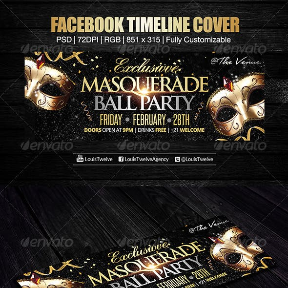 Exclusive Masquerade Ball Facebook Cover