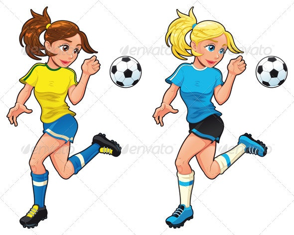 Soccer female players. - Sports/Activity Conceptual