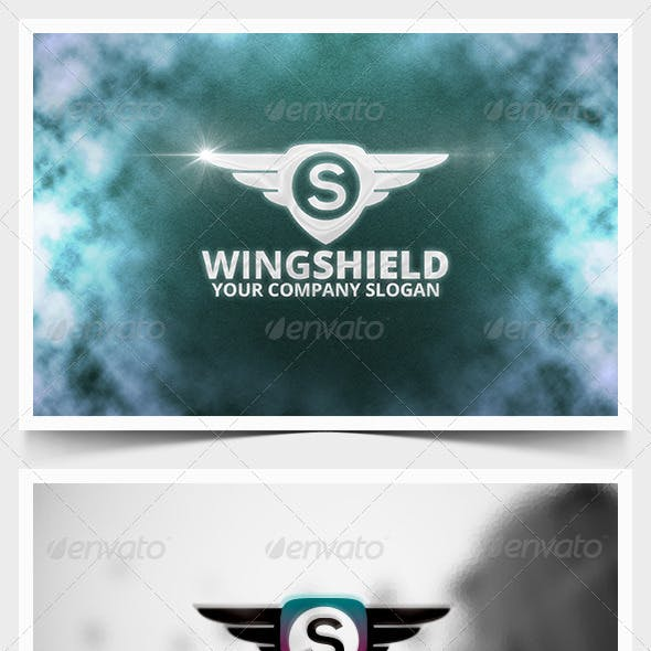 Wing Shield Logo Template