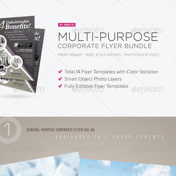Multi-purpose Corporate Flyer Bundle