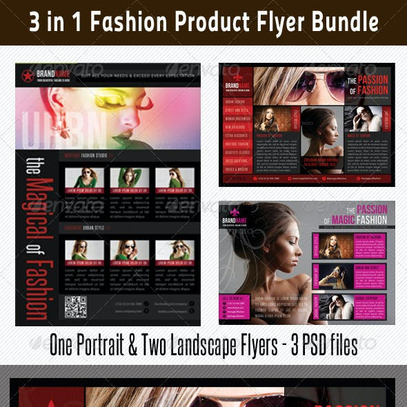 3 in 1 Fashion Product Flyer Bundle 10