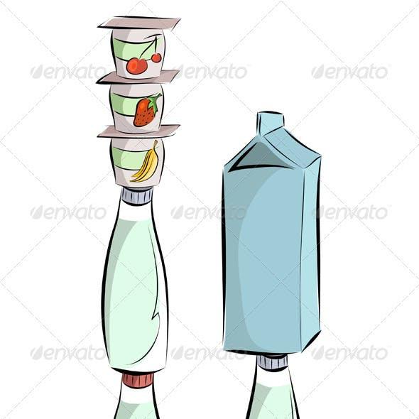 Milk products pyramid