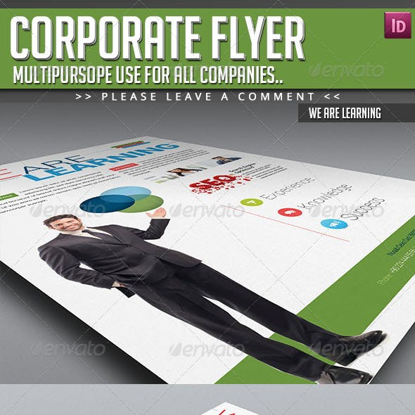 Corporate Flyer - We Are Learning