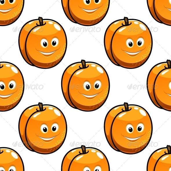 Seamless Pattern Apricot