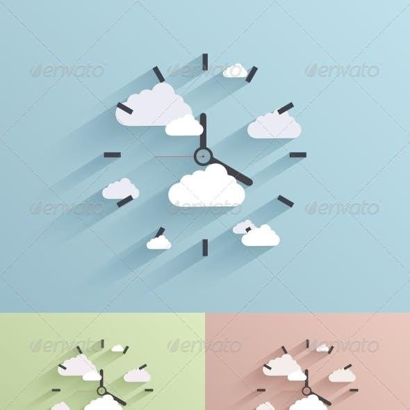 Flat Clock Background