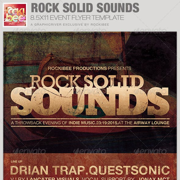 Rock Solid Sounds Event Flyer Template