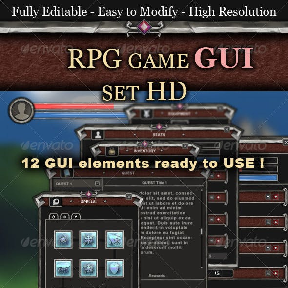 RPG Game UI Set HD