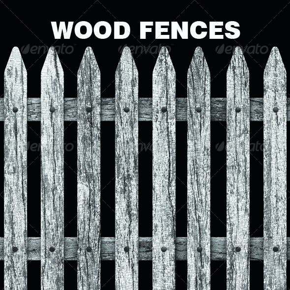 Old White Wood Fences