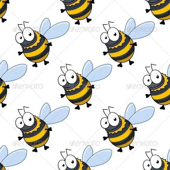 Bee Pattern - Patterns Decorative