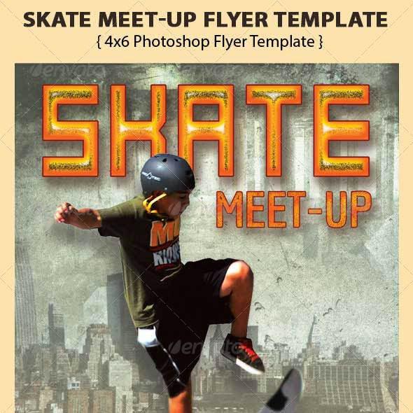 Skate Meet-Up Flyer Template