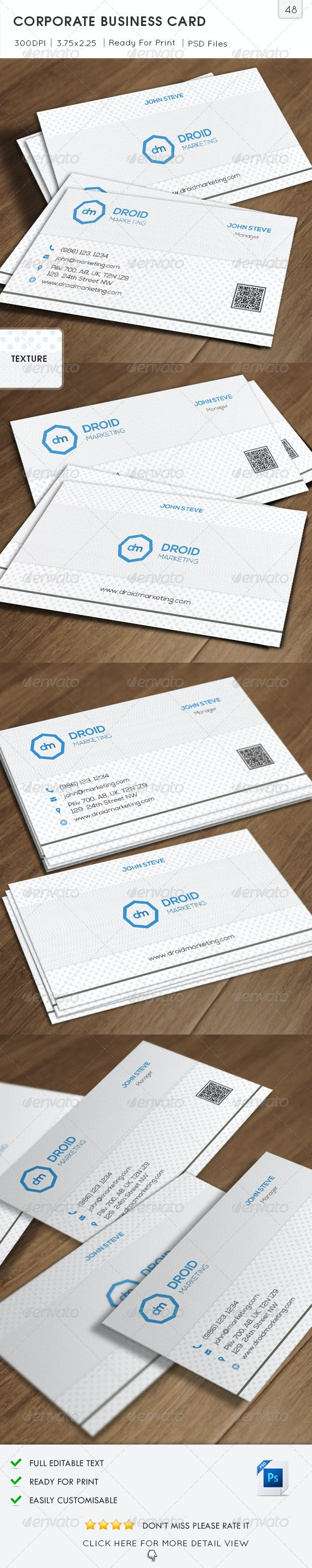 Marketing Corporate Business Card v48 - Corporate Business Cards