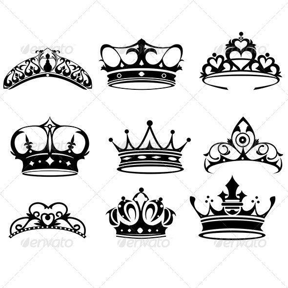 Crown Icons - Objects Vectors