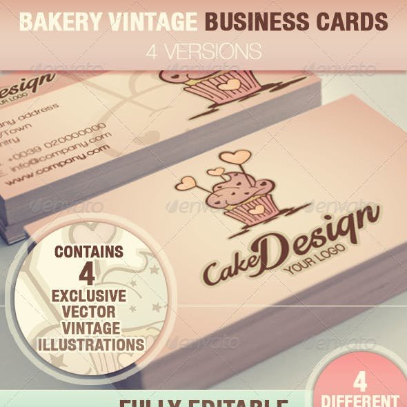 Cake Design Business Cards