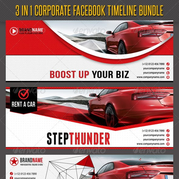 3 in 1 Corporate Facebook Timeline Bundle 01