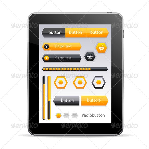GUI elements for Tablet