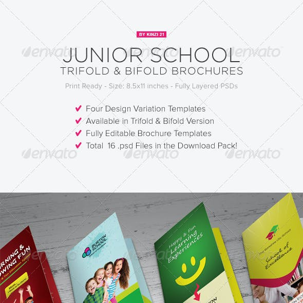 Junior School Trifold & Bifold Brochures