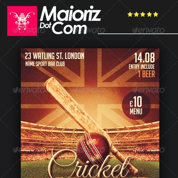 Cricket Cup Flyer
