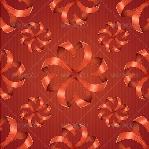 Pattern Ribbons Hearts