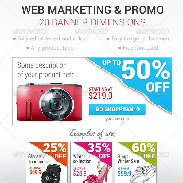 Web Marketing Banners