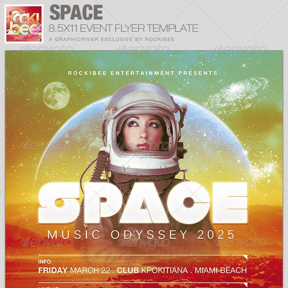 Space Event Flyer Template