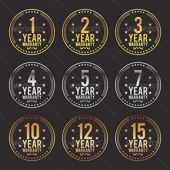 Gradient Warranty Badges