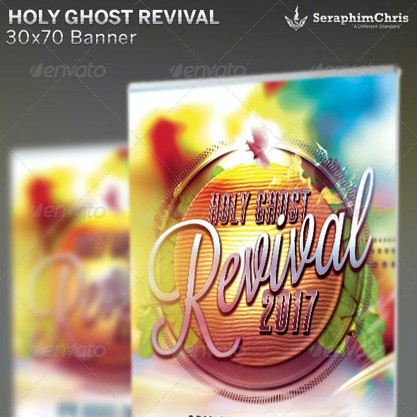 Holy Ghost Revival: Church Banner Template