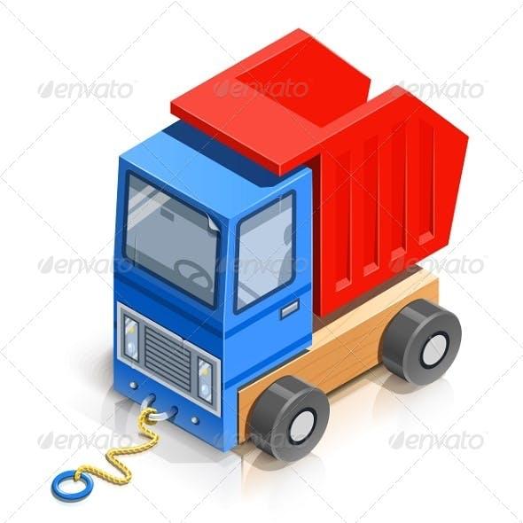 Truck. Wooden Toy