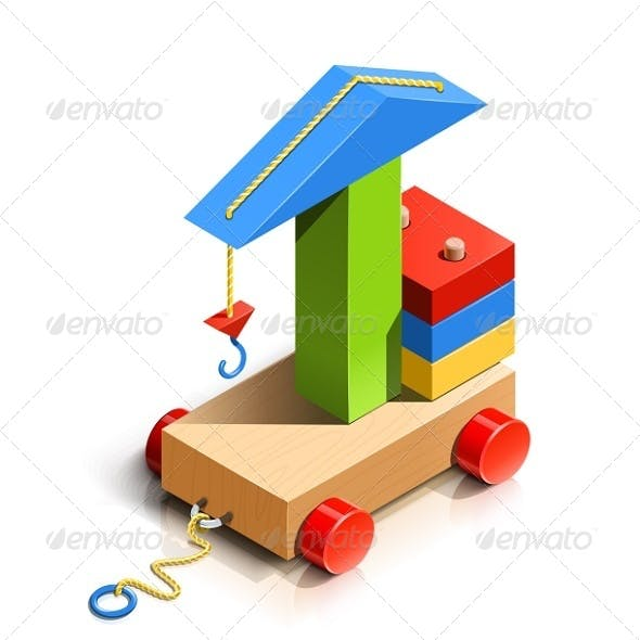Lifting Crane, Wooden Toy