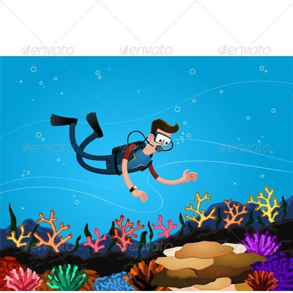Enjoying Coral Reef