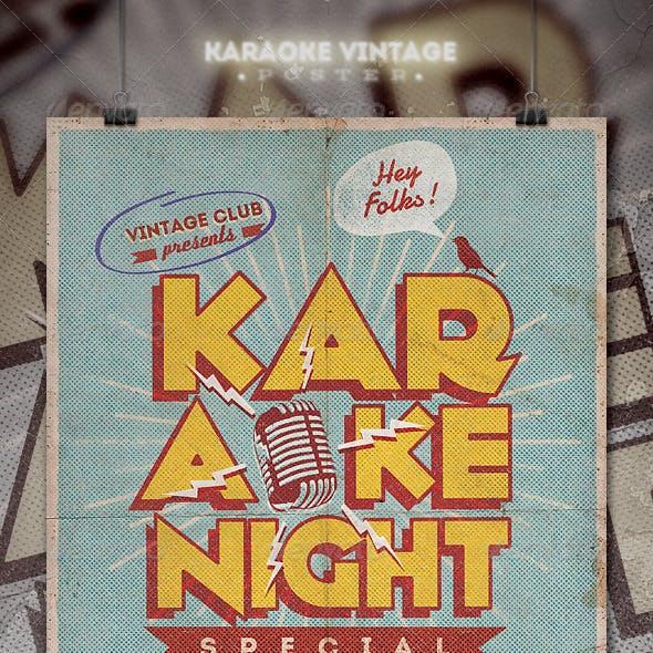 Karaoke Vintage Poster / Flyer