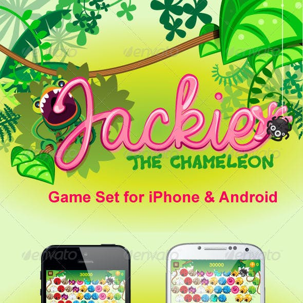 Jackie The Chameleon Game Set