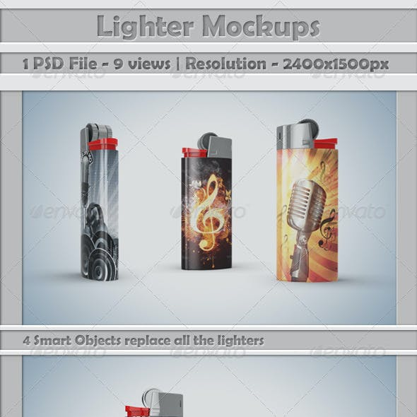Lighters Mockup