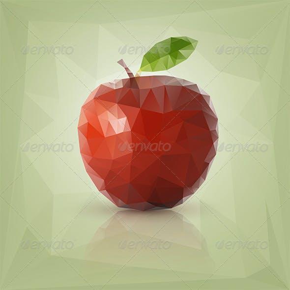 Triangle Polygon Fruit Illustrations