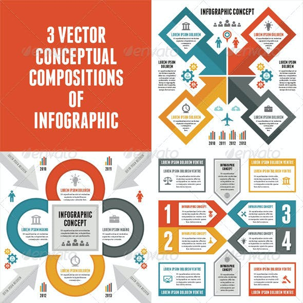 3 Infographic Concept for Presentation