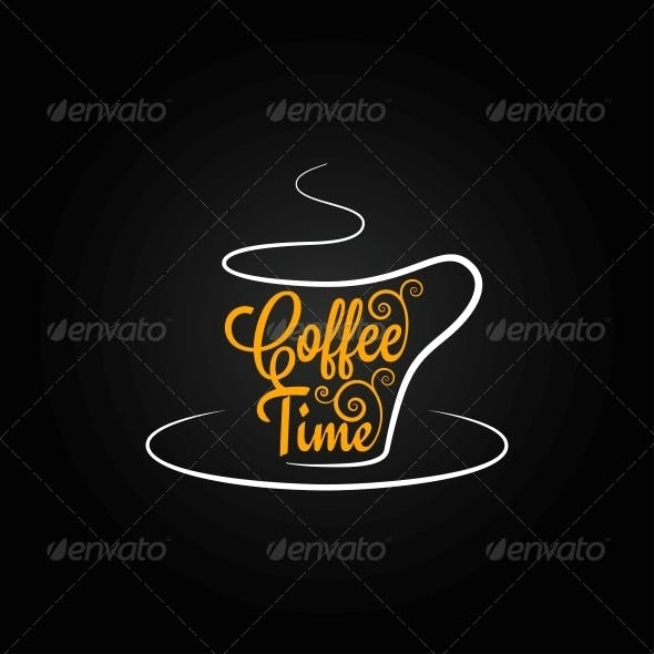 Coffee Cup Sign Design Background