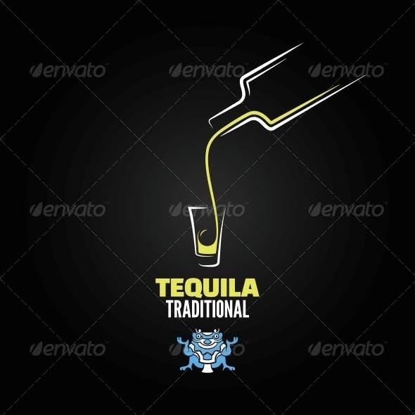 Tequila Shot Menu Design Background