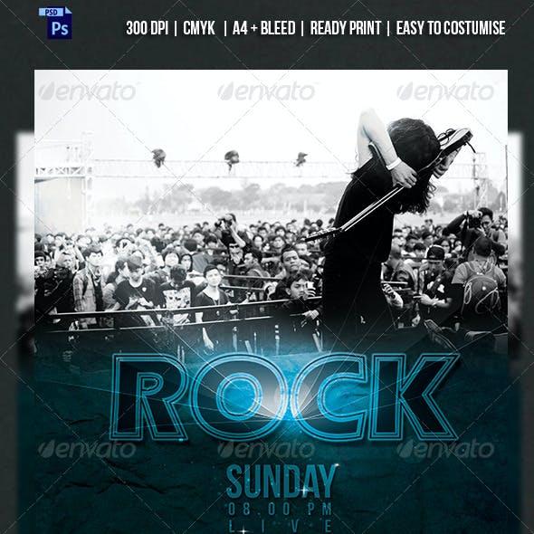KOPLAX - Rock Band Concert Flyer