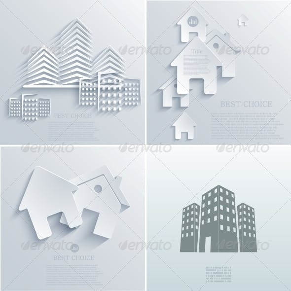 Vector Real Estate Icon Backgrounds EPS10