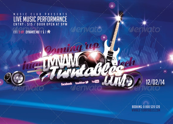 Flyer Music Live Performance - Events Flyers