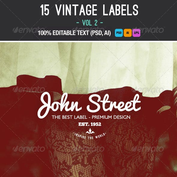 Retro Vintage Labels and Badges Vol.2