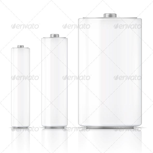 White Battery Template