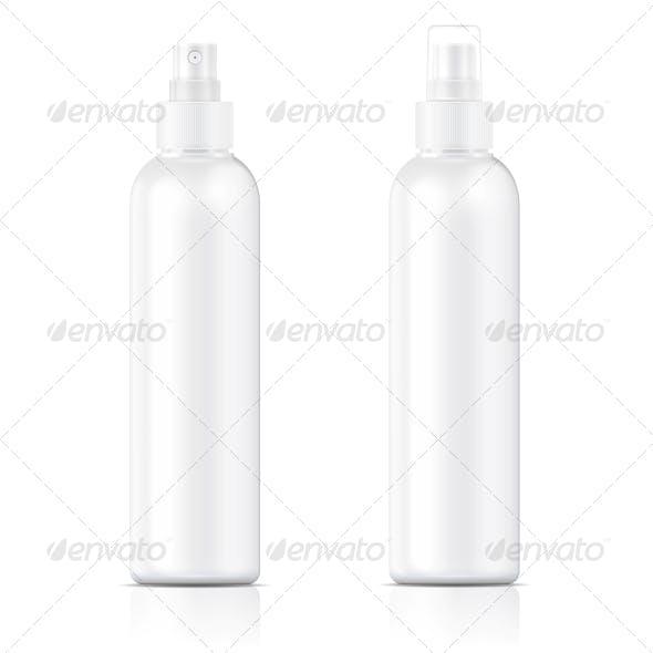 White Sprayer Bottle Template