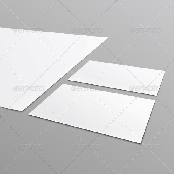 Blank Stationery Layout, A4 Paper, Business Card - Man-made Objects Objects