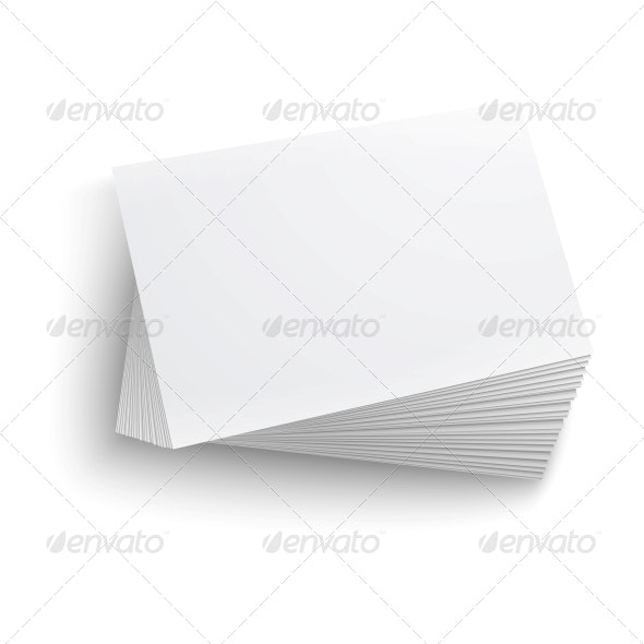 Stack of Blank Business Card - Man-made Objects Objects