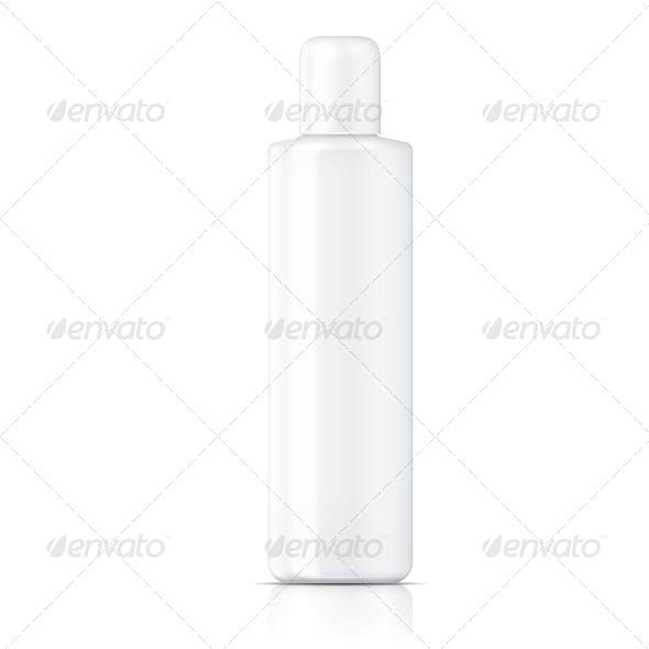 White Tubular Bottle Template