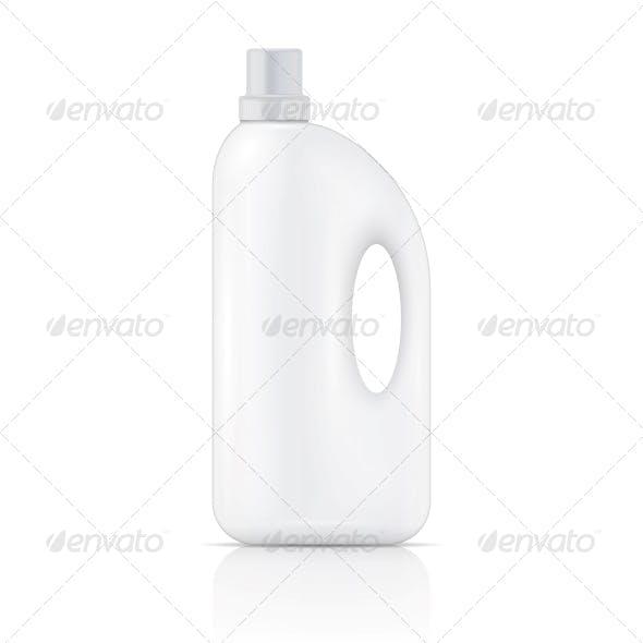 White Liquid Laundry Detergent Bottle