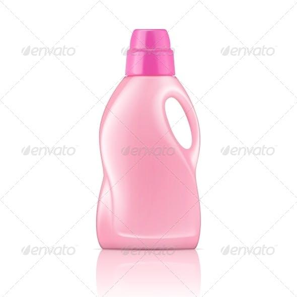 Pink Liquid Laundry Detergent Bottle